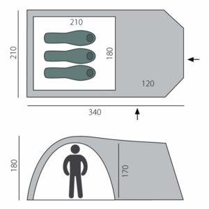 Палатка Element 3 (BTrace)